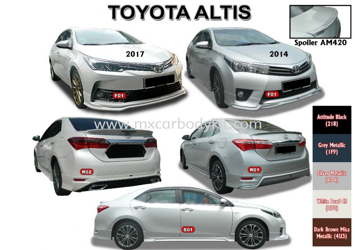 TOYOTA ALTIS 2017 AM STYLE BODYKIT WITH SPOILER ALTIS 2017 TOYOTA Johor, Malaysia, Johor Bahru (JB), Masai. Supplier, Suppliers, Supply, Supplies | MX Car Body Kit