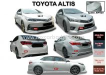 TOYOTA ALTIS 2017 AM STYLE BODYKIT WITH SPOILER