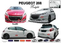PEUGEOT 208 AM STYLE 2017 BODYKIT WITH SPOILER