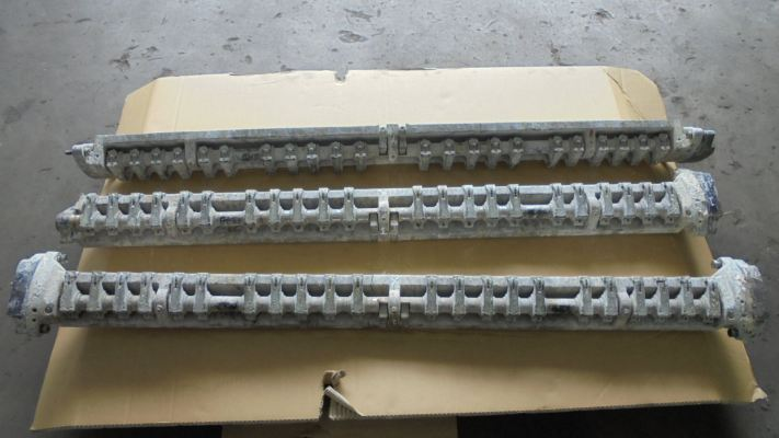 To metal stitching repair fractured / broken delivery gripper bar, ensuring straightness and trueness after repair