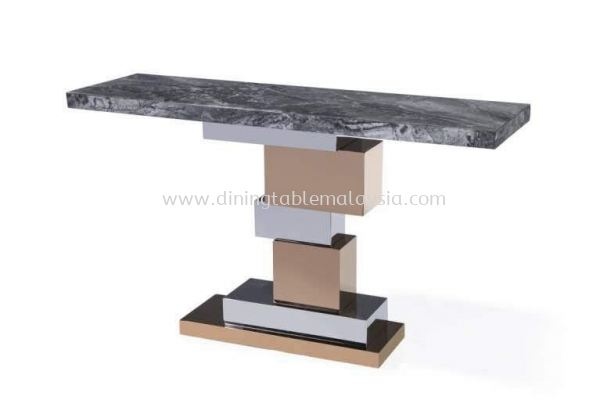 Dark Marble Console Table