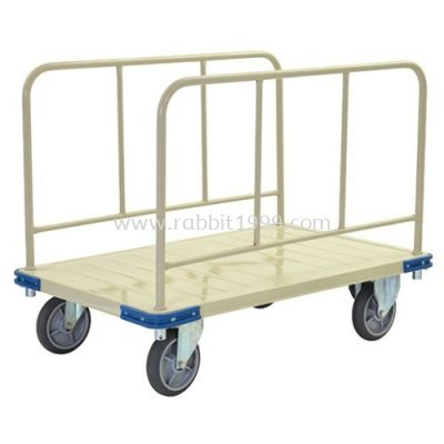PLATFORM TROLLEY WITH SIDE RAIL