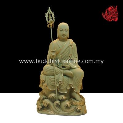 8.8台吋 . 石金坐自在地藏王菩薩(C0593)
