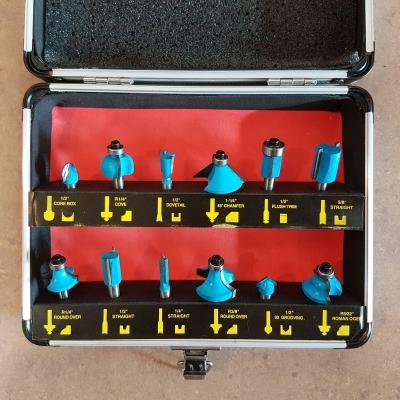 6.3mm Router Bit Set Aluminium Case ID996759