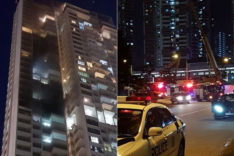 Fire breaks out at condominium near Redhill