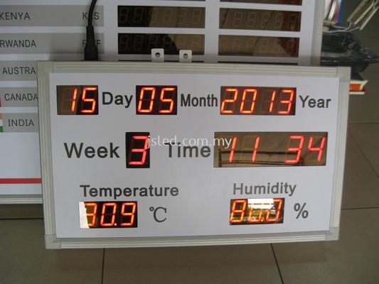 Date Time Temperature Display