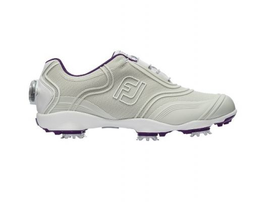 Womens FJ Aspire BOA #98890 Lt Grey with Purple Detail Womens Golf Shoes