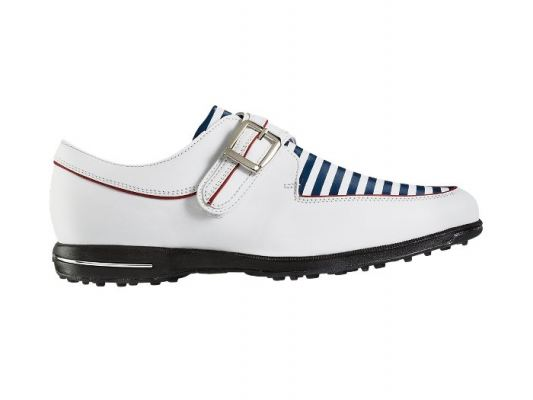 Tailored Collection #91650 White + Navy Stripes Womens Golf Shoes