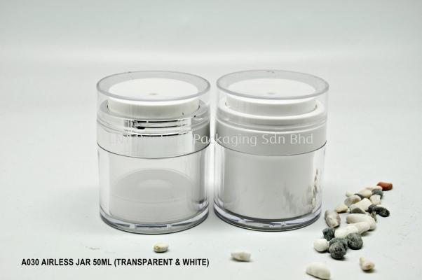 A030 AIRLESS JAR 50ml (TRANSPARENT & WHITE)