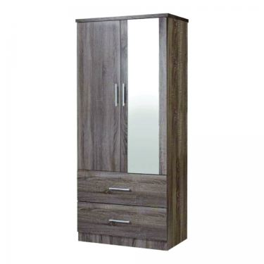 2 1/2' 2 DOORS WARDROBE WITH MIRROR (WD SU932M-SD)