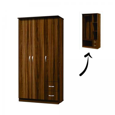 6' 3 DOORS WARDROBE (WD TC-WR01)