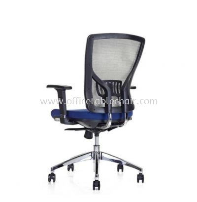SANIE MESH MEDIUM BACK CHAIR WITH ADJUSTABLE ARMREST AND CHROME BASE