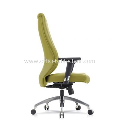 SENSE 4 EXECUTIVE HIGH BACK LEATHER CHAIR WITH ALUMINIUM ROCKET DIE-CAST BASE HB
