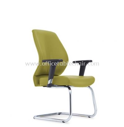 SENSE 4 EXECUTIVE VISITOR LEATHER CHAIR WITH CHROME CANTILEVER BASE VA