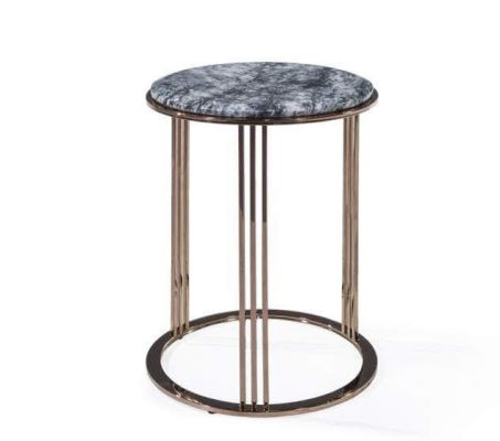 Dark Marble Side Table