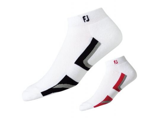 ProDry Fashion Sport Socks Model 16731g White/ Black and White/ Red