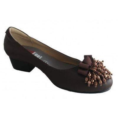 MF242-4 Brown Medifeet Fairlady shoe (RM239)