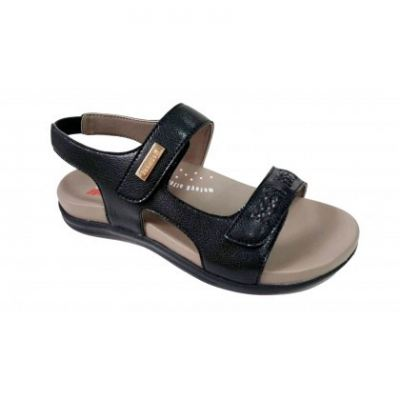 MO069-6 Black Medifeet Orthotic Sandals Women
