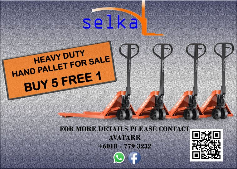 Heavy duty hand pallet jack for sale in Johor
