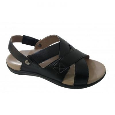 M043-6 Black Medifeet Men's Orthotics Sandals (RM229)