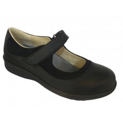 M089-6 Black Medical Grade Footwear Therapeutic