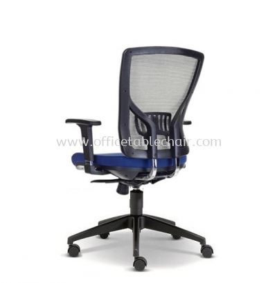 SANIE MEDIUM BACK CHAIR WITH ADJUSTABLE ARMREST AND NYLON BASE