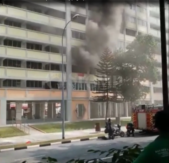 Fire at Simei Road HDB: 1 firefighter suffers heat exhaustion, 150 residents evacuated