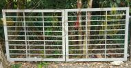 Mild Steel 6/8x6/8 Hollow Swing Main Gate(2nd Hand) - 11sf 8 inchi x 5sf , Price Rm1100 with new painting/ installation (modify add Rm300)  Sold 2nd Main Gate Main Gate