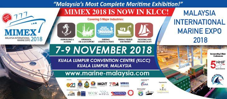 Malaysia International Marine Expo 2018 (MIMEX) November 2018