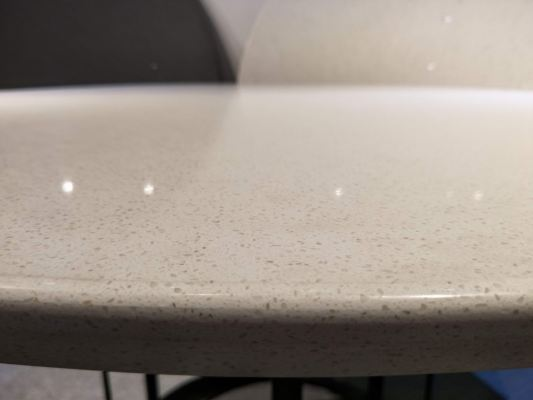 White Quartz Dining Table - Alpine