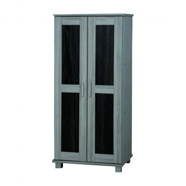 2 DOORS HIGH SHOE CABINET (SC SU224-GL/BK)