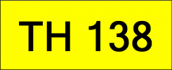 Number Plate TH138 Superb Classic Plate