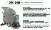 GM50B SINGLE BRUSH WALK BEHIND FLOOR SCRUBBER Auto Scrubber  Floor Cleaning / Maintenance
