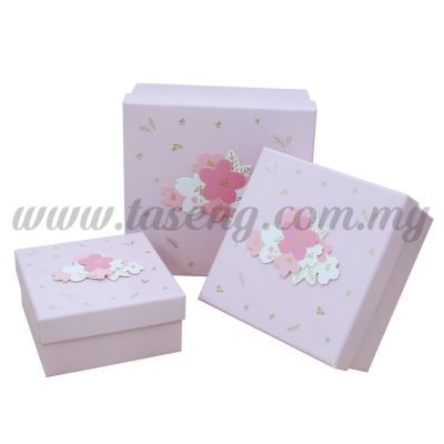 Square Box 3in1 - Sakura Flower *Pink (BX-JKZ-41)
