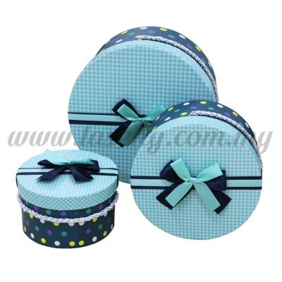 Round Box 3in1 - Polka Dot *Dark Green (BX-058-12)