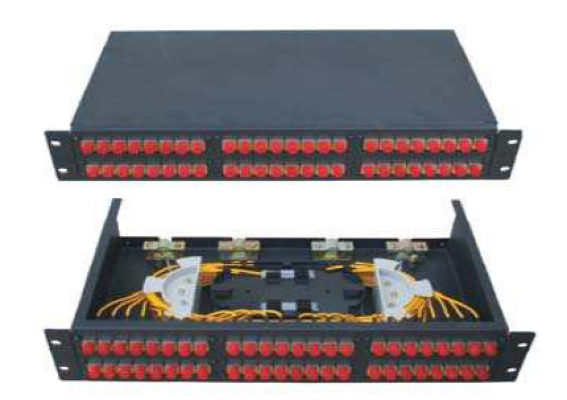 48 port rackmount panel, SC Simplex, without adapter