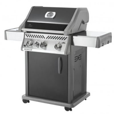 Napoleon Rogue® R425SB (Black) with Range Side Burner Gas BBQ Grill