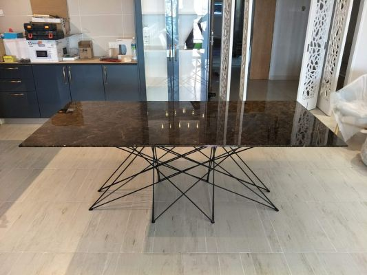 Dark Marble Dining Table