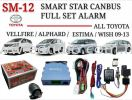 Smart Star Canbus Plug And Play Alarm For Toyota Vellfire, Alphard, Estima And Wish Smart Star Alarm Security System