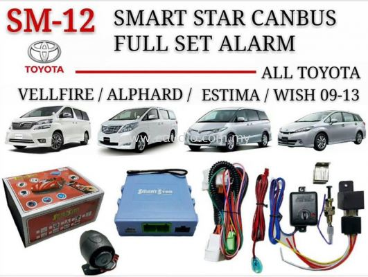 Smart Star Canbus Plug And Play Alarm For Toyota Vellfire, Alphard, Estima And Wish