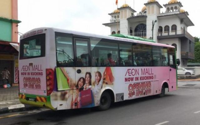 Bus Body Wrapping @ AEON Mall Kuching