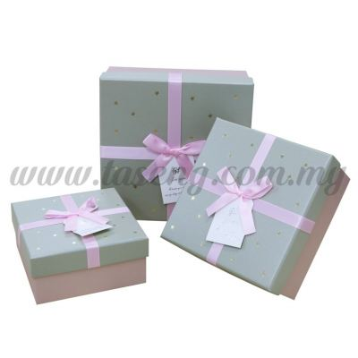 "Square Box 3in1 - ""For You"" Gold Star *Pink (BX-JKZ-39)"