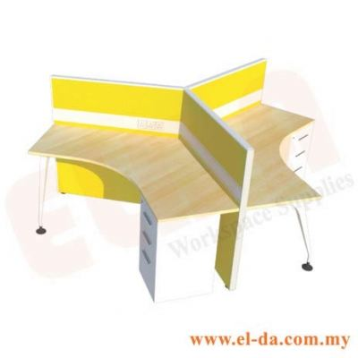 V-Shape Table Series Cluster Of 3 (ELDA-VSFB-3S)