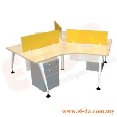 V-Shape Table Series Cluster Of 3 (ELDA-VSMC-3S)