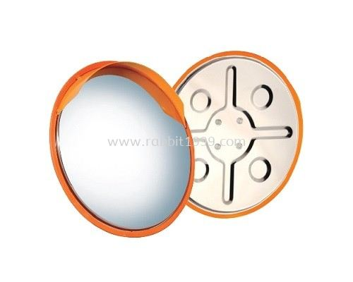 OUTDOOR STAINLESS STEEL CONVEX MIRROR 600