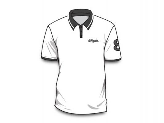 Men Polo Tee White No.8