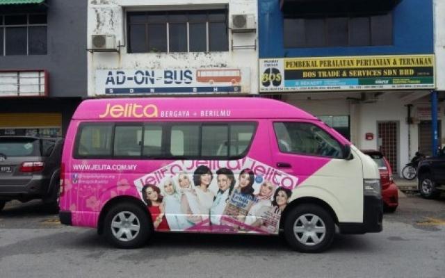 Van Advertising For Jelita Magazine