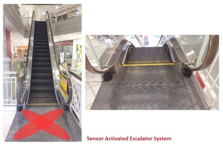 SENSOR ACTIVATED ESCALATOR SYSTEM MALAYSIA