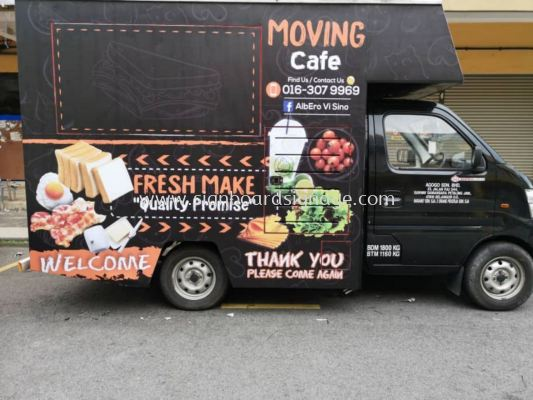 Moving Cafe Truck Box Lorry UV Sticker at Klang