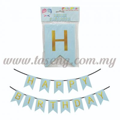 Banner Happy Birthday *Baby Blue - Small (P-BN-8936BB)
